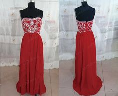 strapless prom dresses red prom dress cheap prom by sofitdress, $139.00
