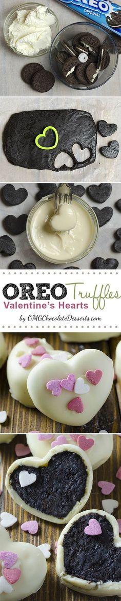 Oreo Truffles now in a new, special Valentines day Edition!
