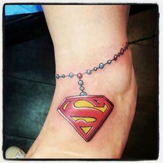 Superman Logo Anklette Tattoo
