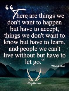 Accepting, Learning, and Letting Go Love Quotes