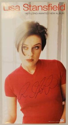 Lisa Stanfield Authentic Signed 18X34 Poster Autographed PSA/DNA #J00348