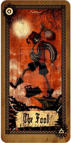 Tarot card - The Fool by CottonValent.deviantart.com on @deviantART