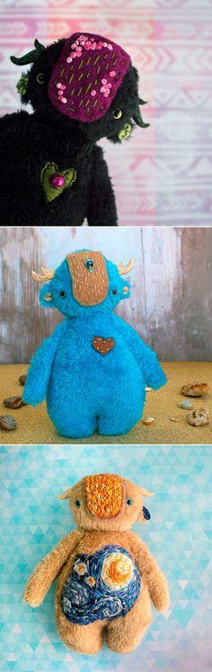Monster Toys | Забавные игрушки-монстрики — Купить, заказать, игрушка, кукла, интерьер, декор, ручная работа, ван гог, звездная ночь, buy, order, toy, doll, interior, decor, home decor, handmade, Van Gogh, starry night