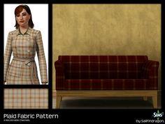 Plaid Fabric Pattern - Sims 3 Patterns - Dragon Black Sims