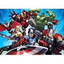 Fototapete Superhelden   Comic Tapete   Ideen für ein Superhelden Kinderzimmer   The Avengers - Captain America, Iron Man, Hulk, Angriff Der Superhelden