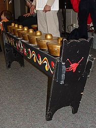Description: The eight Philippine horizontally laid, knobbed gongs known as the kulintang used as a main melodic instrument in the kulintang ensemble. Vietnam, Philippines Culture, Culture Clothing, Fb Covers, Musical Instruments, North America, Musicals, Product Launch, Entertaining