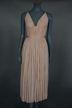 Madame Grès rose-pink draped jersey evening gown, Spring- Summer 1961