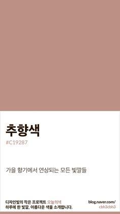 [오늘의 빛: 오늘의 색] 추향색 : 네이버 블로그 Pantone Colour Palettes, Pantone Color, Beige Color Palette, Pantone 2020, Design Palette, Color Harmony, Color Stories, Color Names, Color Inspiration