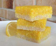Keto Lemon Coconut Bars: No-bake, high fat, ready in 15 mins.
