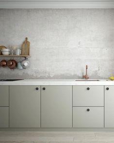Stunning Minimalist Kitchen Design Trends - Page 3 of 71 Bathroom Wallpaper, Of Wallpaper, Kitchen Colors, Kitchen Design, Small American Kitchens, Kitchen Models, Wet Rooms, Minimalist Kitchen, Modern Minimalist