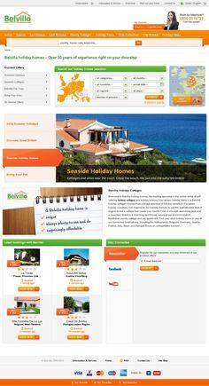 The website 'http://www.belvilla.com'