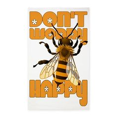 Dont worry be happy Bee 3x5' Area Rug - June 10