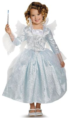 Cinderella Movie: Deluxe Fairy Godmother Costume For Toddlers from CostumeExpress.com