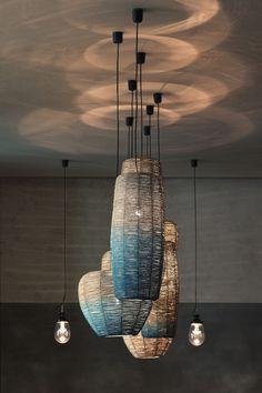 Gran Fierro is a taste of Argentina in the heart of Eur .- Gran Fierro ist eine Kostprobe von Argentinien im Herzen Europas. – Alles sofort für Dein Zuhause – Möbel Gran Fierro is a taste of Argentina in the heart of Europe. Light Fittings, Light Fixtures, Interior Lighting, Lighting Design, Ceiling Lamp, Ceiling Lights, Luminaire Original, Rattan Lamp, Lamp Inspiration