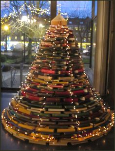 Book tree at the Stedelijke Openbare Library in Belgium.