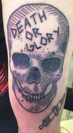 by Karl Oldschool Traditional Traditionaltattoo Oldschooltattoo Kreuzstich Tattoo Berlin Kreuzberg Linework Linetattoo Skull Skulltattoo Death Glory Artist Instagram Karlinger1211
