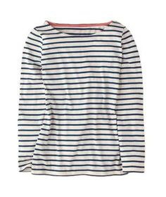 Boden Stripy Breton   Virtually trend-proof, the versatile shirt—try it with denim, florals, even sequins—has been around since the 19th century, a true wardrobe essential.