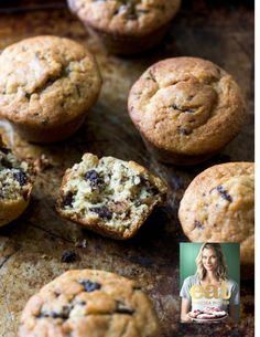 Banana Chocolate Chip Muffins Chelsea winter - keep well Choc Chip Muffins Recipe, Banana Chocolate Chip Muffins, Banana Muffins Nz, Baking Recipes, Dessert Recipes, Easy Desserts, Bread Recipes, Winter Food, Sweet Recipes