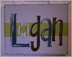 Custom Hand Painted Name Sign