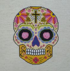 ALL SOULS Sugar Skull Cross Stitch Pattern