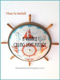 Carpenter Trick to Repair Furniture, HometoCottage Vintage Light Fixtures, Ceiling Light Fixtures, Vintage Lighting, Ceiling Lights, Collapsible Dog Crate, Crate Cover, Luxury Vinyl Flooring, Panel Curtains, Decorating Tips