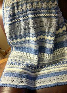 Ravelry: JamaHv's Stripes - blue, gray, cream