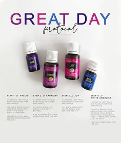 """This protocol, called """"Gary Young's Great Day Protocol,"""" is an incredible way to give yourself a few moments of self-care […] Valor Essential Oil, Young Essential Oils, Essential Oil Diffuser Blends, Valor Young Living, Young Living Oils, Young Living Abundance, Distillery, White Angelica Young Living, Aromatherapy"""