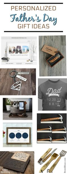 Personalized Father's Day Gift Ideas - get a head start on shopping to get that perfectly special gift for your amazing dad!  #fathersday #giftsfordad #giftidea #personalized