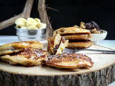 Dadels, banaan, kokos en walnoot pannenkoeken