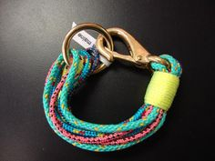 The Ropes Maine Portland Bracelet in Green, Blue, Pink with Neon Yellow | Local Hem