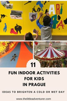 Inspiration for a rainy or cold day in Prague with kids. From theatres and museums to playcentres and swimming pools, there is something here to delight children of all age groups.