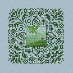 Cross stitch Sampler PATTERN Ornaments needlepoint Primitive art  If you like it, I have other pattern from the series: