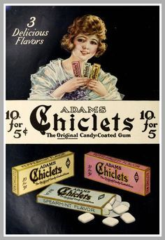 A fabulous collection of Canadian Coca-Cola, Chiclets and Ivory Soap print advertising items for your enjoyment. 1920s Advertisements, 1920s Ads, Retro Advertising, Retro Ads, Art Vintage, Vintage Candy, Vintage Labels, Vintage Signs, Vintage Pictures