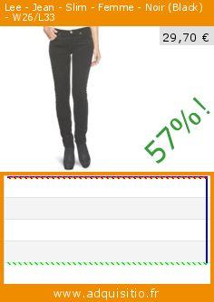 Lee - Jean - Slim - Femme - Noir (Black) - W26/L33 (Vêtements). Réduction de 57%! Prix actuel 29,70 €, l'ancien prix était de 69,30 €. http://www.adquisitio.fr/lee/jean-slim-femme-noir-0