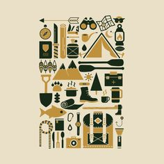 Awesome 'Camping+Collage' design on TeePublic!