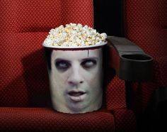 Sceau à pop corn conçu par Young & Rubicam pour l'Horror Film Convention