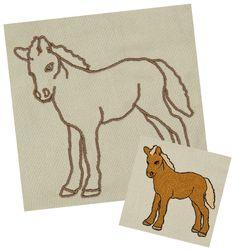 Pony Stickdatei auf www.gabrielles-embroidery.com