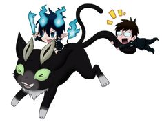 rins real twin Ao no Exorcist | AnE: Giant Kuro by ~animyx on deviantART