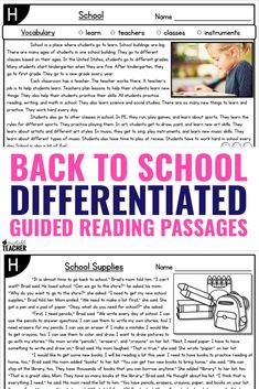 These guided reading passages are themed and differentiated for the entire school year! The levels and topics make my schedule so much more simple and easier to manage. I can use them for kindergarten and first grade reading levels the whole year. Planning is done! Reading Comprehension Passages, Reading Fluency, Reading Intervention, Teaching Kindergarten, Guided Reading, Teaching Reading, Reading Centers, Teaching Tips, Planning School