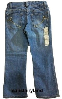 Children's Place Size 5/6 (with button inside waist) Boot Cut Blue Jeans #ChildrensPlace #BootCut