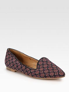 Joie Day Dreaming Silk Crepe de Chine Smoking Slippers, $70 at Saks!