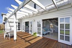 pergola off back of house. Sustainable Beachside Living | Scyon Wall Cladding And Floors