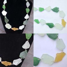 #collana in #vetrodimare #colorato #naturale. #fattaamano.  #natural #colored #seaglass #necklace. #handmade.  #collar en #vidriodemar #colorado y #natural. #hechoamanos. www.oro18.eu info@oro18.eu