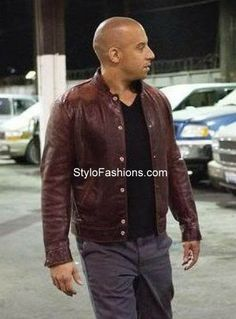 FAST AND FURIOUS DOMINIC TORETTO VIN DIESEL Red LEATHER JACKET this is the jacket that will promise you to look as same as shown in the movie. The styling of this jacket has the features of the collarless design with the full front zip closure vertical pockets on the upper chest on both side.