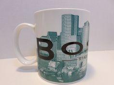 Starbucks 2002 Skyline Series Barista Coffee Mug Boston Beantown Series One