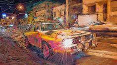 """以前にお絵描きした作品で、夜のドライブをイメージして制作したものです。  ハロウィンのビデオにピッタリの動画です、マイケル・ジャクソンのスリラーの音楽とダンスがイイです。 SDSU BASEBALL: HALLOWEEN """"THRILLER"""" FLASH MOB - 10/26/14 http://youtu.be/SM9qmqeoWZg"""