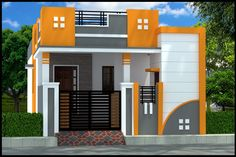 Simple House Exterior Design, House Front Wall Design, Single Floor House Design, Village House Design, Kerala House Design, Small House Design, Door Design, 2bhk House Plan, Dream House Plans