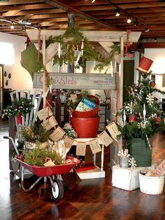 holiday market displays