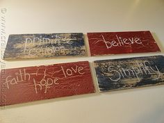DIY Tutorial: Weathered Beach Signs - Maybe a great idea for wedding/party/reception decorations?
