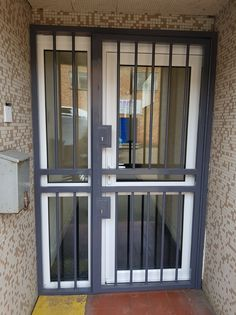 Our Security Bar doors and gates are ideal solutions for an additional barrier to an existing door; the perfect external security solution. Fitted recently in London. Steel Security Doors, Security Gates, Pop False Ceiling Design, Door Gate, Security Solutions, Gate Design, Back Doors, Doorway, Windows